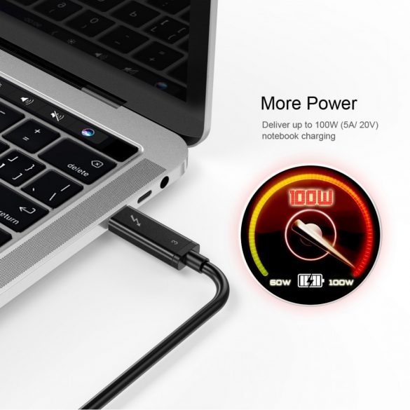 Choetech A3006 Thunderbolt 3 Cable ACTIVE 40Gbps/100W Charging 5K Cable