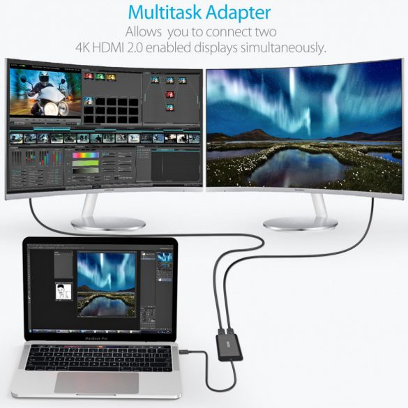 Choetech HUB-H07 Thunderbolt 3 to Dual HDMI 2.0 Output Adapter 4K@60Hz