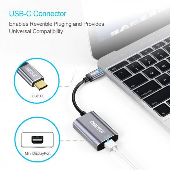 Choetech HUB-M06 USB C to Mini Displayport with PD Charging Port 4K 60Hz