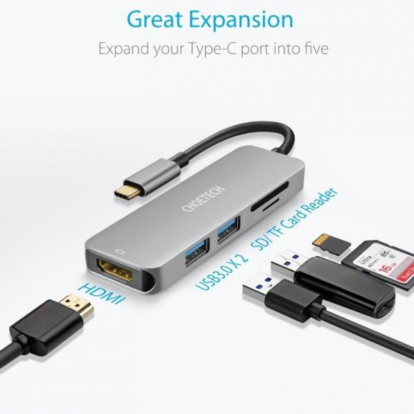 Choetech HUB-M18 5 in 1 Multiport USB Type C Hub