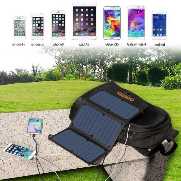 Choetech SC001 Solar Charger, 19W Solar Phone Charger