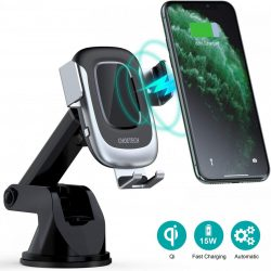 CHOETECH T542-S 15W Fast Wireless Charger Charging Car Mount Phone Holder Air Vent Dashboard