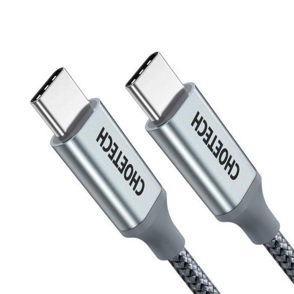 Choetech XCC-1002-GY 100W USB Type C 1.8m Fonott gyortöltésre képes Adat- és töltőkábel